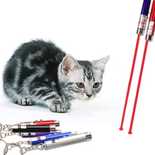 Wholesale Funny Pet Cat Toys LED Laser Pointer light Pen With Bright Animation Mouse Random Color(China)