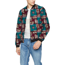 African festival colour men baseball jacket africa print stand collar dashiki coat fashion african clothes customized