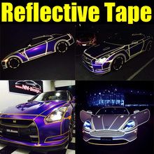 1.5CMX6M Primium Reflective vinyl film for car wheel and body decoration by free shipping Reflective vinyl car sticker