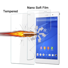 "1pcs Best Explosion-proof Nano soft film Sony Xperia Z3 Tablet Compact SGP621 8.0"" TAB Anti-shatter screen protector films"