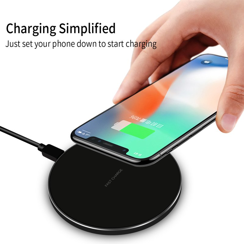 For Samsung Galaxy S7 S6 Edge Plus Qi Quick Wireless Charger Accessory Power Bank Pad For Galaxy S7 Note 8 5 Fast Charge Device 10