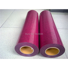 good quality Iron On Glitter Heat Transfer Vinyl Printing Heat Transfer Film CDG-24 Cherry color(China)