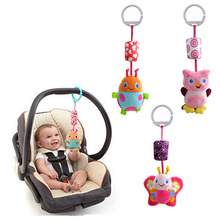 Wholesale- Hanging Bed toys baby bed hanging toy and ring the bell Baby stroller accessories 3 PCS / Lot (WJ241-WJ242)(China)