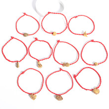 2017 New Fashion Red Thread String Bracelet Lucky Rope Bracelet Handmade Rope for Women Men Fish Jewelry Lover Couple Gift 2 Pcs