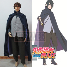 Naruto the Movie Uchiha Sasuke Cosplay Costume(China)