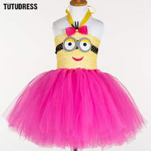 Buy Cartoon Tutu Dress Children Girl Cosplay Halloween Minion Costume Princess Kids Christmas Party Performance Birthday Tulle Dress for $12.07 in AliExpress store