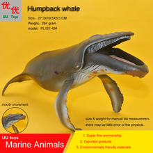 Hot toys big humpback whale Simulation model Marine Animals Sea kids gift educational props Action Figures