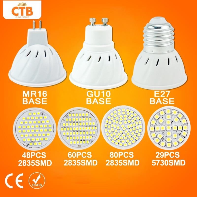 LED Spotlight Bulb GU10 3W 4W 5W 6W AC 220V SMD 2835 5050 LED Bulb MR16 Energy Saving Lampada Lamp LED E27 For Home Bombillas<br><br>Aliexpress