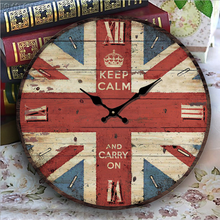 Creative Wall Clock Modern Bedroom Quiet Clock Home Antique Decor Wooden Wall Clock Shabby Chic Rustic Retro Kitchen