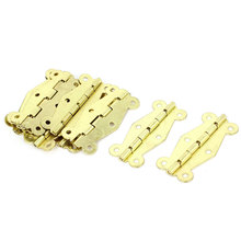 UXCELL 10Pcs 2.6Cmx5.1Cm Gold Tone Folding Closet Cabinet Door Hinge Hardware