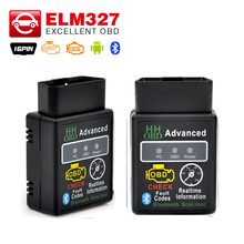 New arrival HH OBD MINI ELM327 Torque Android Bluetooth OBD2 OBDII CAN BUS Check Engine HH ELM 327 Auto Scanner ECU Code Reader(China)