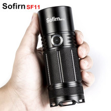 Sofirn SF11 Powerful LED flashlight Cree XPL 1100 Lumen LED Torcia High Power Flashlight Torch AA 14500 Light Indicator 6 Modes(China)