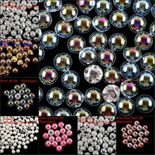 New Sew On Rhinestones With Claw Four Holes Metal Setting Pearl Sew-On Crystals DIY Bags Dresses Garment Accessories