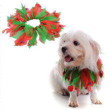 Halloween Pet Dog Accessories Dog Collar Ribbon Neck Dog Christmas Scarf Festive Supplies(China)