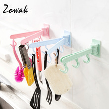 Storage Rack Adhesive Multi-function Rotating Over Door Wall Hook Hanger Organizer Container Kitchen Bathroom Hooks Towel Rack(China)