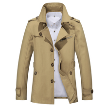 5XL Men Jacket Coat Long Section Fashion Trench Coat Jaqueta Masculina Veste Homme Brand Casual Fit Overcoat Jacket Outerwear