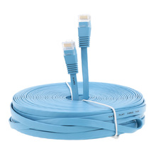 High Speed Cat6 Ethernet Flat Cable RJ45 Computer LAN Internet Network Cord 0.5m 1m 3m 5m 10m 20m 25m 30m/98.42ft