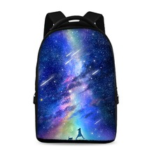 HUE MASTER 17-inch 3D sky pattern casual backpack can store 15-inch computer backpack students large-capacity school bags