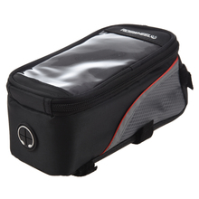 Good deal Roswheel Bicycle Cycling Bike Frame Pannier Front Tube Bag Case   Mobile Cell Phone (Red/Black, 4.8 inch)