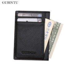GUBINTU Genuine Cowhide Leather Wallets Men Purses Business High Quality Male Wallet Quality carteira masculina--BID075 PM15
