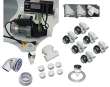 "bathtub all parts kit collection with contol pack 3/4"" jet punp 110V  WHIRLPOOL JETTED TUB complete contractor kit"