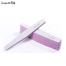 6Pcs/Set Professional 100/180 Nail File Fashion Straight For Manicure Pedicure Acrylic Nail Files Care Buffers Tips Sanding(China)