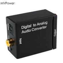 MVpower DAC Digital Optical SPDIF Coax To Analog L/R RCA Audio Converter Adapter Support  AMP Analog L/R stereo audio Output