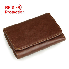 RFID blocking Genuine Leather men wallet Hot Fashion Famous Brand Man Wallets Purses Coin Bags Men's Wallets Carteira Masculina