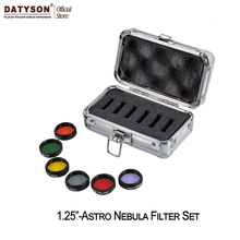 "1.25"" Color Astro Filters Set (6 pieces) for Astronomical Telescopes Ocular Lens Planets Nebula Filter SkyGlow"