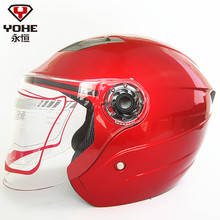 2017 Summer Fashion YOHE Half face motorcycle helmet ABS YH-837 half cover motorbike helmets for man and women size M L XL XXL