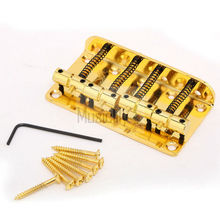 Gold 4 String Vintage Bridge For Jazz Style Bass JB Top Load Upgrade