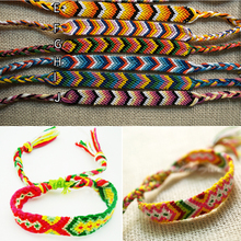 WHOLESALE 100 Strings Handmade Positive Vibes Friendship Bracelets Earthy Delights MIX COLORS Jewelryfindings.aliexpress.com(China)