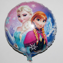 10pcs/lot Cheap Cartoon Anna Elsa Air balloons party supplies decoration baloes inflatable Pig balloons Classic toys Globos(China)
