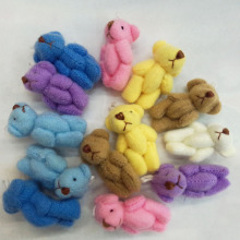 bulk Mini Soft Traditional Teddy Bear 3.5cm Party Bags/Gift/Wedding Favor/Baby Shower 7color 100pcs