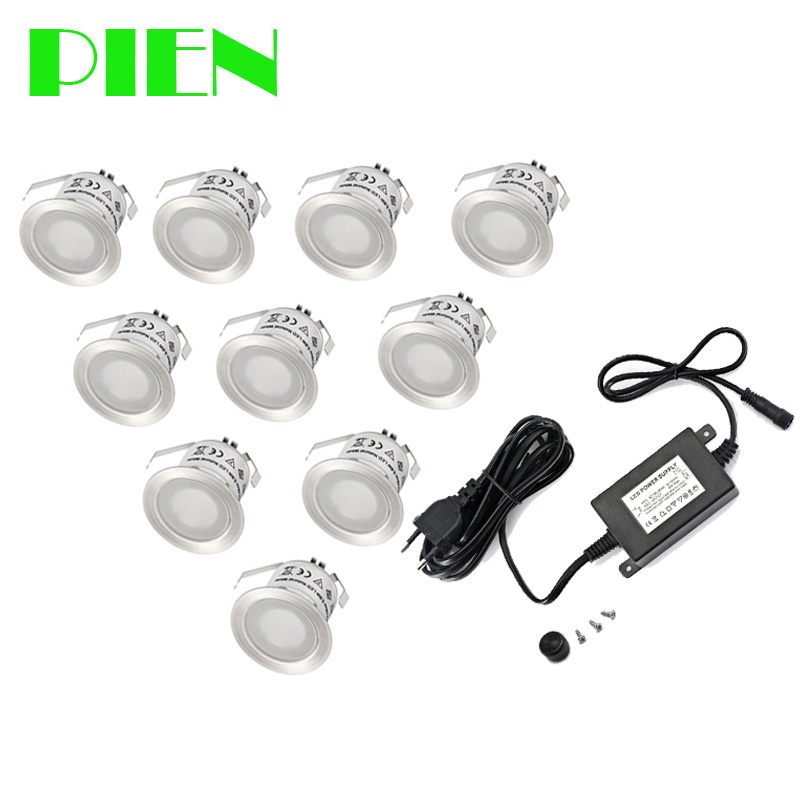 10 pcs 12V LED Landscape Step lighting Outdoor Waterproof deck light Stainless Steel Waterproof IP67 for Garden Yard Free Ship<br>