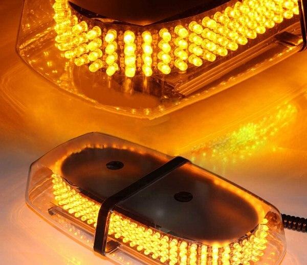 UK and Spain Car Roof Flashing mini Strobe Emergency Light Bar   DC 12V 240 LED<br>