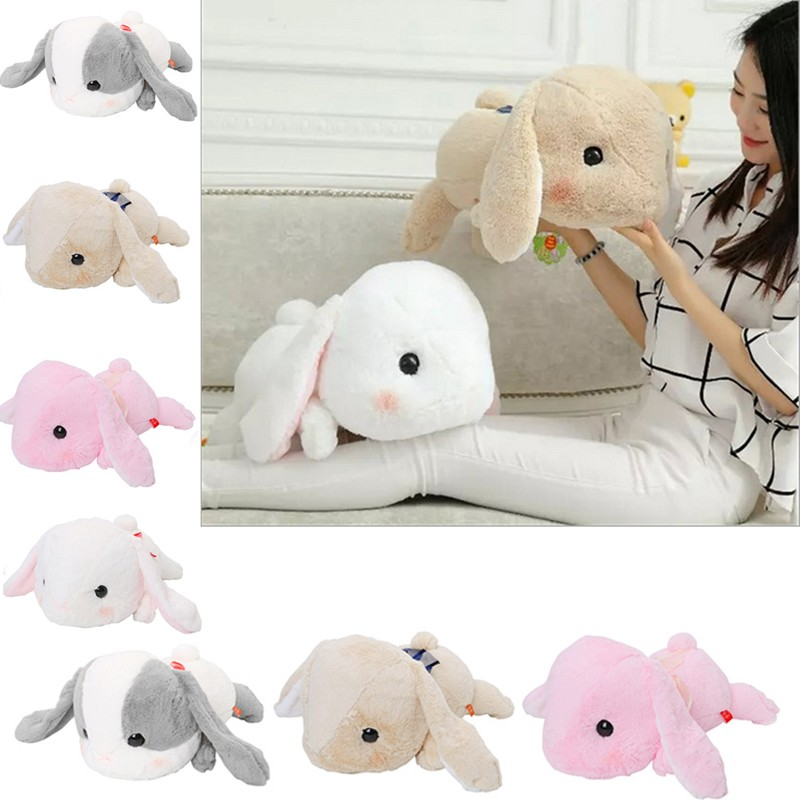 Bigger Than You Expect AMUSE Pote Usa Loppy Cuddly Bunny Fluffy Rabbit Plush Toy Lying Gesture Cushion Pillow Easter Gift Giving<br><br>Aliexpress