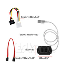Adapter Converter Cable For 2.5/3.5 Hard Drive SATA/PATA/IDE Drive to USB 2.0 480 MB/s(China)