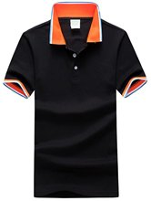 Generic Men's Solid Color Classic Pique Mesh Polo Shirt(China)