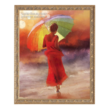 Diy Diamond Painting Cross Stitch Diamond Embroidery Beautiful Red Umbrella New Style Beauty Girl Diamond Mosaic Painting