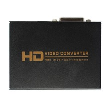 1080P HD Video HDMI to DVI Coaxial Audio Converter Adapter Box For PS3,Blue ray DVD(China)