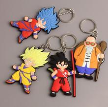 New 1 pcs Japanese anime Dragon Ball PVC Dubble Side Toy Key Ring Cartoon Keychains Bag Pendant Action Toy Figure For Best Gift