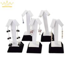 wholesale 5 pcs/lot luxury Jewelry Stand Rack earring dislpay holder tree display Organizer Freeshipping(China)