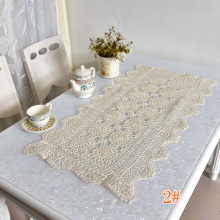 Fashion Cotton Crochet tablecloth white Table cloth mat doilies lace square Table Cover kitchen home Christmas wedding decor