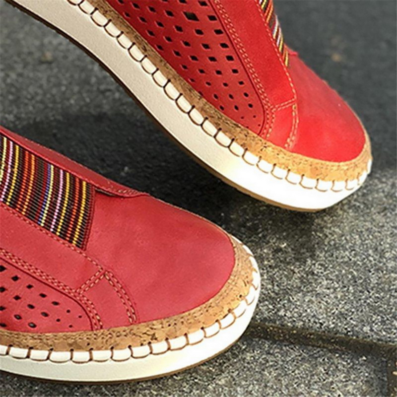 ADISPUTENT Leather Loafers Casual Shoes Women Slip-On Sneaker Comfortable Loafers Women Flats Tenis Feminino Zapatos De Mujer 12