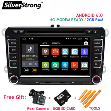 FREE SHIPPING Android6 2GB RAM Passat Car DVD Player for Golf5 VW Polo Jetta Tiguan Passat B6 5 cc for skodaoctavia fabia AD65S