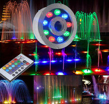 1pcs High Power LED Underwater Light IP68 Waterproof DC12/24V 6w 9w 12w 18w Input RGB for Swimming Pool/Fountain/Aquarium Use(China)
