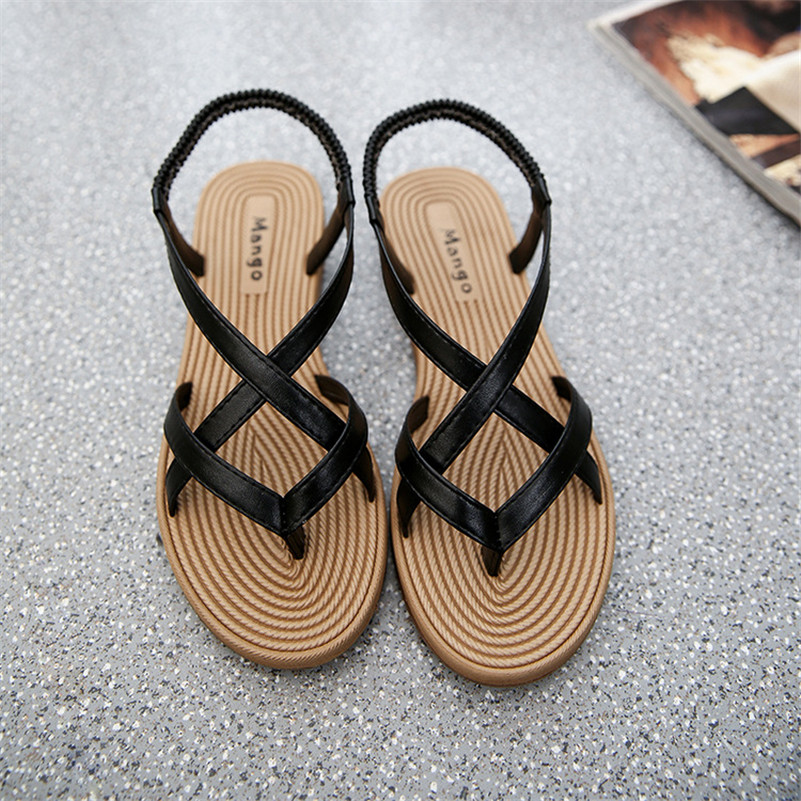 2017 Summer Fashion Shoes Sandals Flat Heel Flip Gladiator Brief Herringbone Flip-flop Sandals Flat Ladies Shoes chaussure femme<br><br>Aliexpress