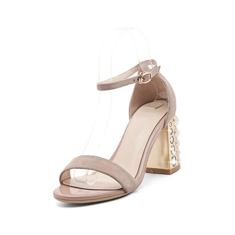 2017 High Heels Sandals Women Genuine Leather Women Sandals 2017 Summer Ladies High Quality<br><br>Aliexpress