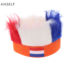 16 Country Flag Football Soccer Fans Wig Head Cap European Cup World Cup Sports Carnival Festival Cosplay Costume